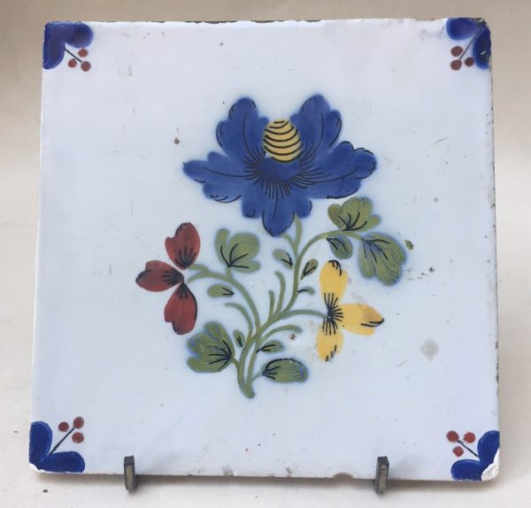 English Delft Polychrome Tile