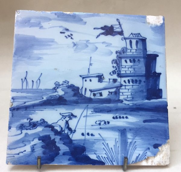 London Blue and White Landscape Tile
