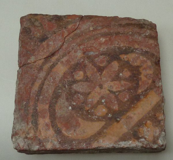 14th century floor tile Probably Penn (Bucks)