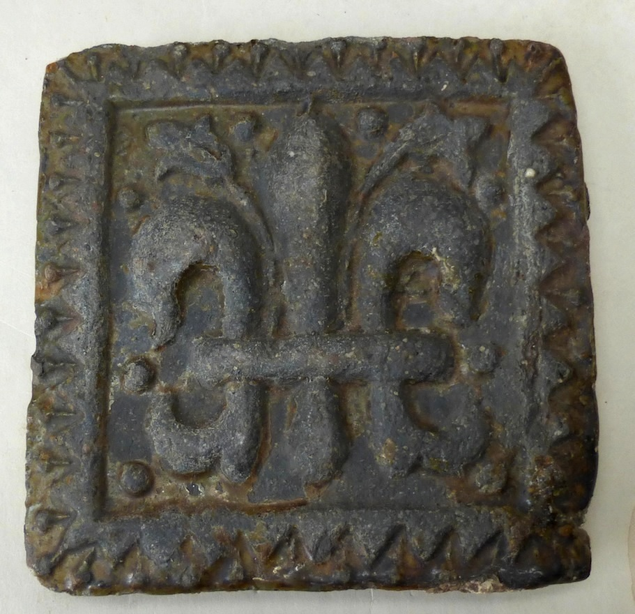 North Devon Floor Tile Decorated With A Fleur De Lis Motif Late 17th