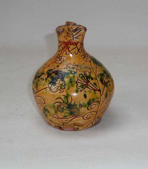 Donyatt Slipware Money Box inscribed Cecilia May 5th 1834 Height 5 1/2 inches