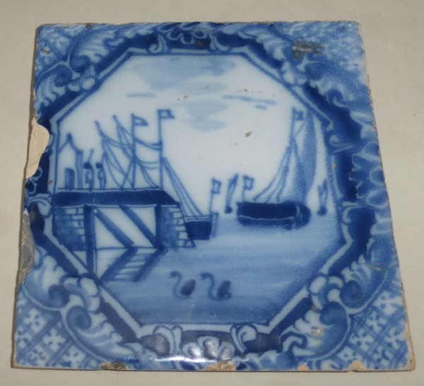 English Delft tile