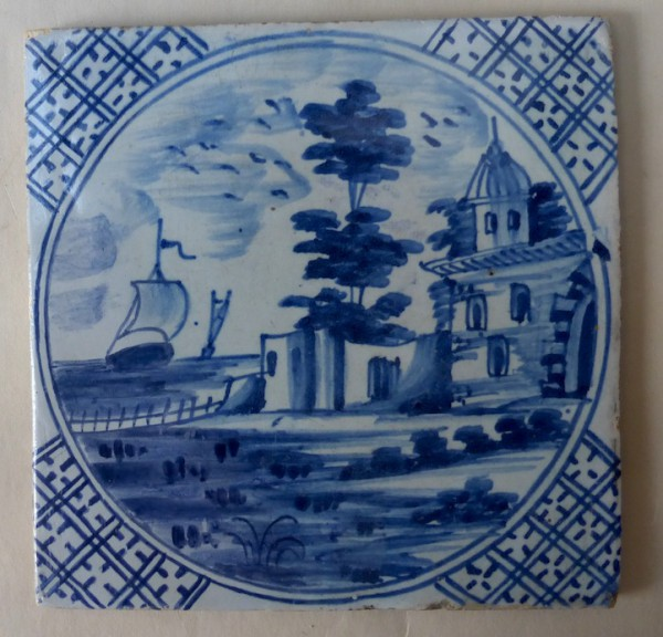 London blue and white delft