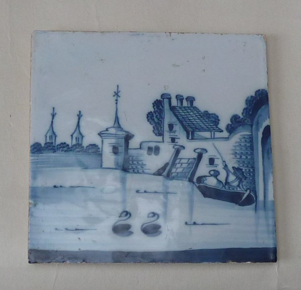 Liverpool Blue and white tile