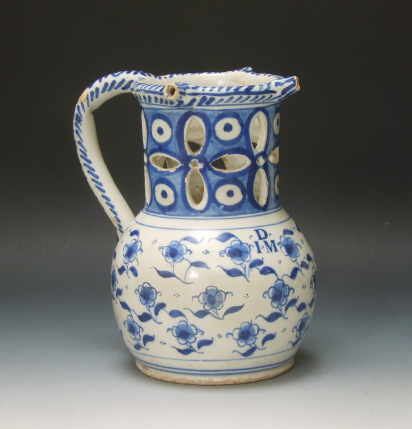 English Puzzle Jug With Initials