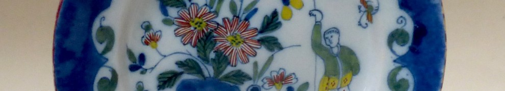 English Delftware polychrome Plate