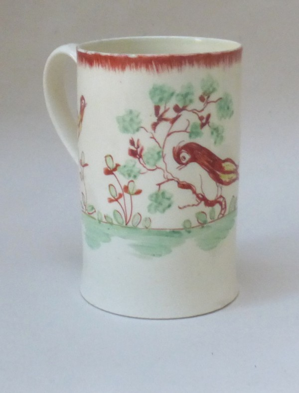 Creamware Mug with Birds
