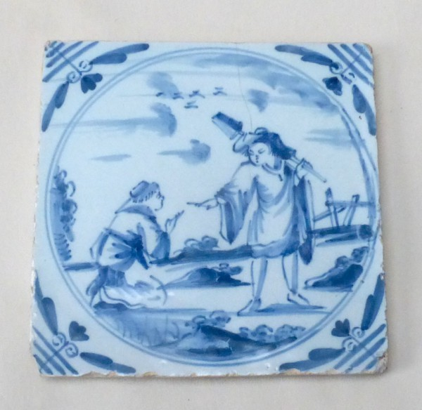 London Delftware Biblical Tile