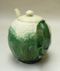 Creamware Cauliflower Teapot and Cover