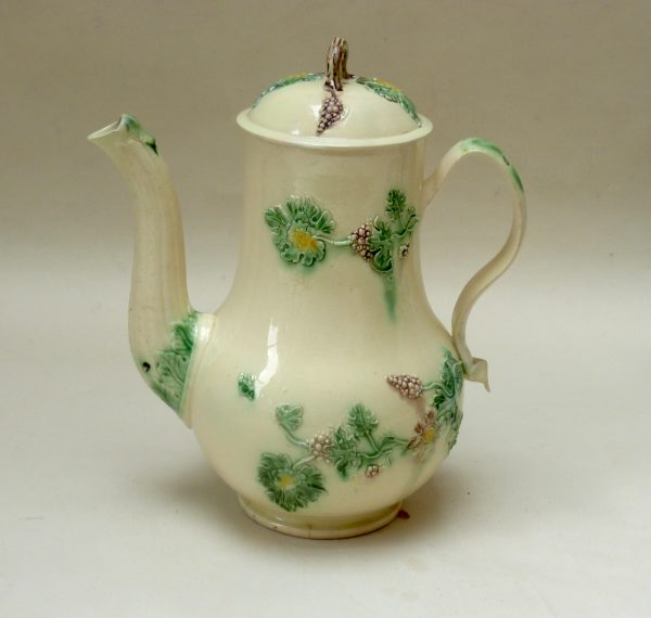Early Creamware Coffee Pot and cover