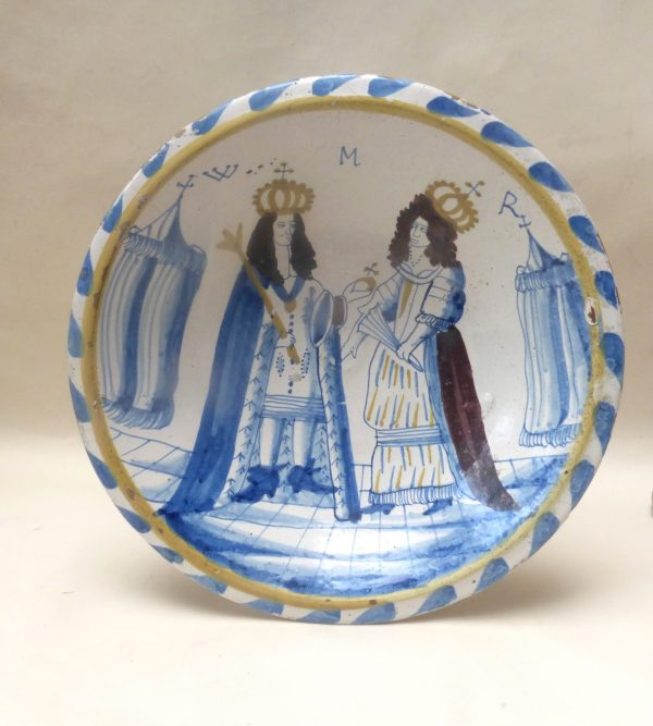 Blue Dashed Royal Delftware Charger