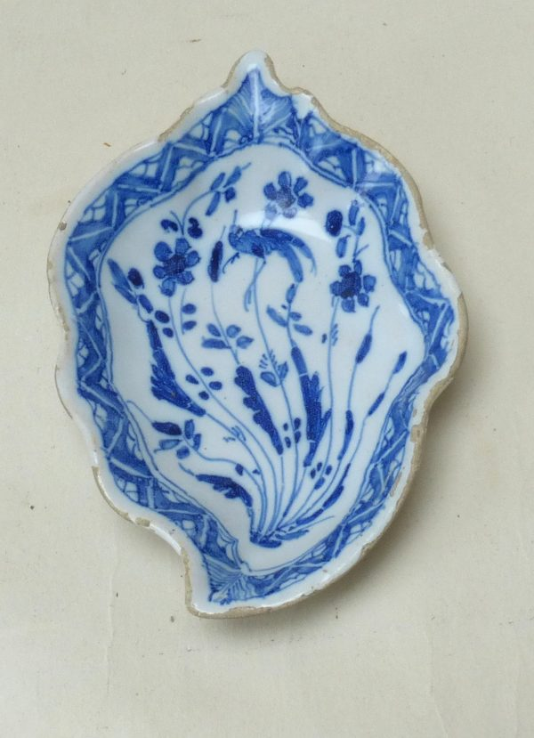 English Delftware Leaf Dish