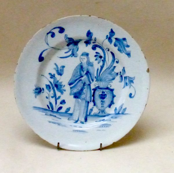 Chinoiserie Delft plate