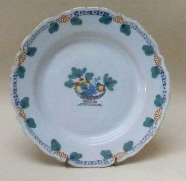 Shaped English Delftware Fazackerly Plate