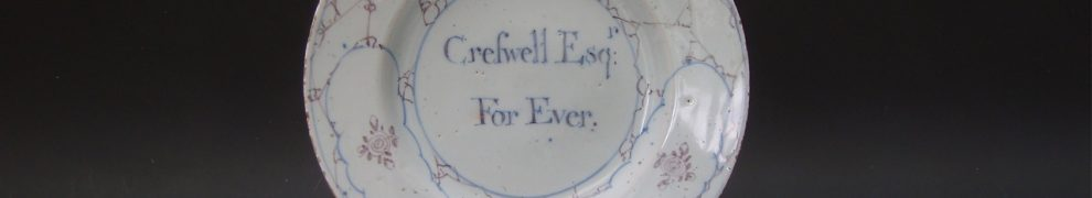 English Delftware Electioneering Plate
