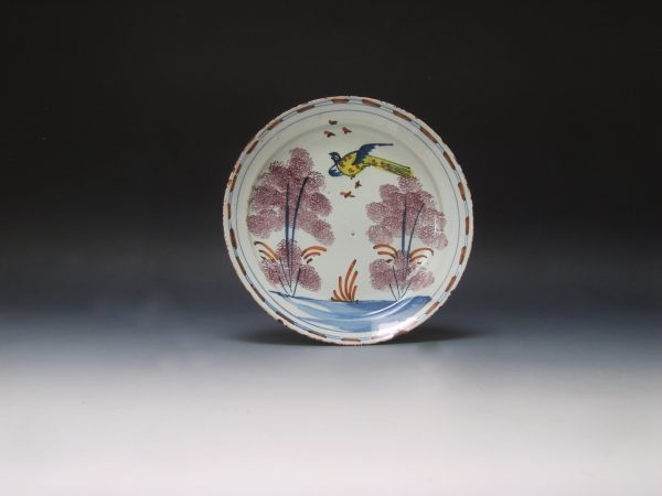 Scarce English Delftware Farmyard Plate