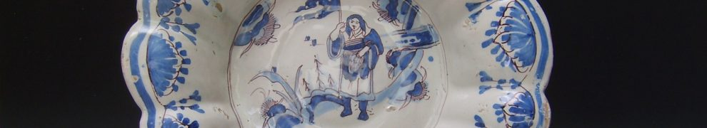 English Delftware Moulded Dish