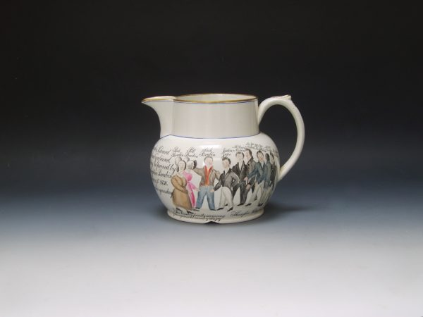 White Earthenware Commemorative Jug