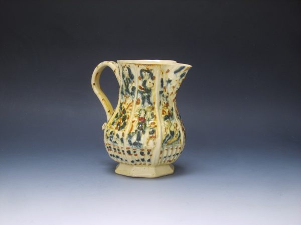 Early Creamware Moulded Jug