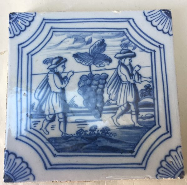 Dutch Blue and White Biblical Tile
