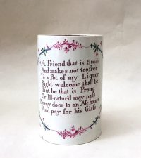 Creamware Friendship Mug