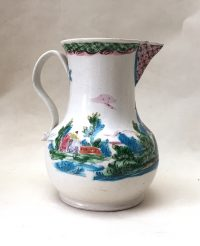 Salt-glazed Polychrome Jug