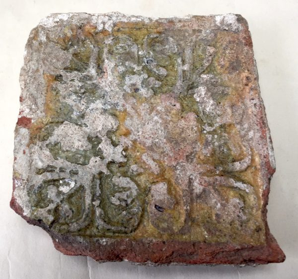 13/14th Century Floor Tile with Relief Decoration