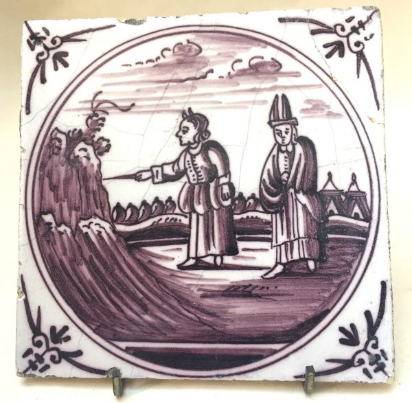 Dutch Delft Manganese Tile
