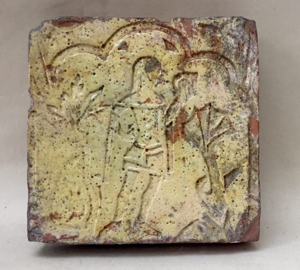14th century Line Impressed Tile