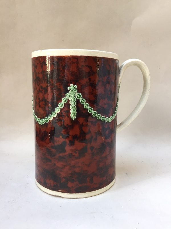 Creamware Mug with Mottled Slip
