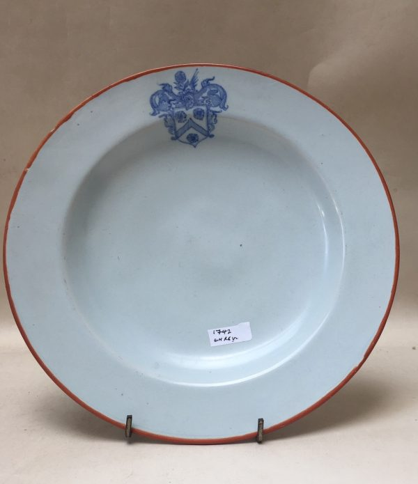 Dated Armorial Delft Plate