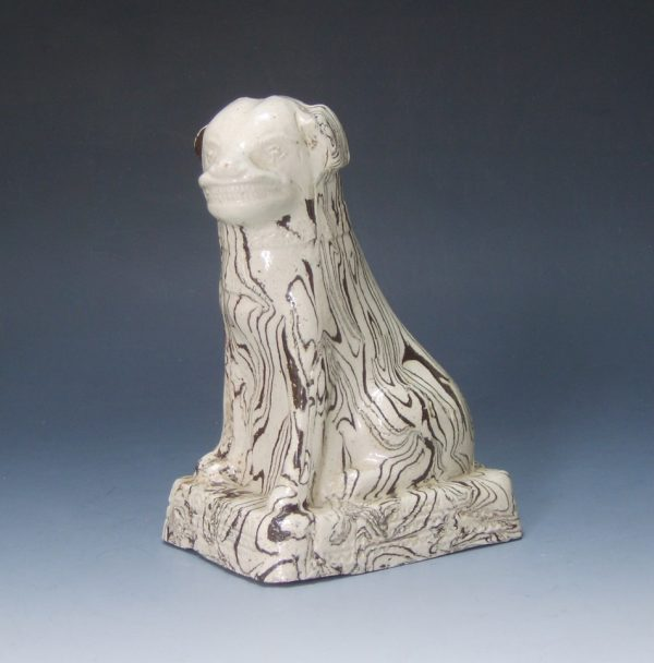 Salt-Glazed Agate Stoneware Dog
