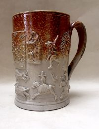 Brown Salt-Glazed Stoneware Tankard