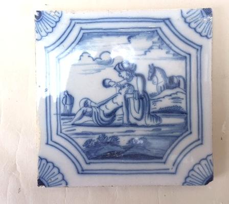 Dutch Blue and White Biblical Tile