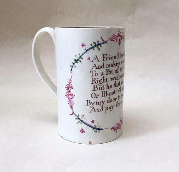 Creamware Friendship Mug