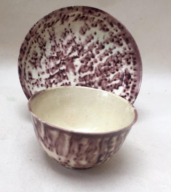 Creamware Tea Bowl and Saucer