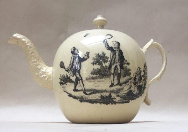 Rare Creamware Teapot