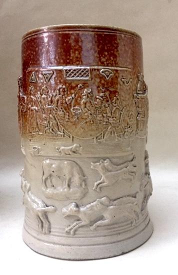 Brown Salt-Glazed Stoneware Tankard